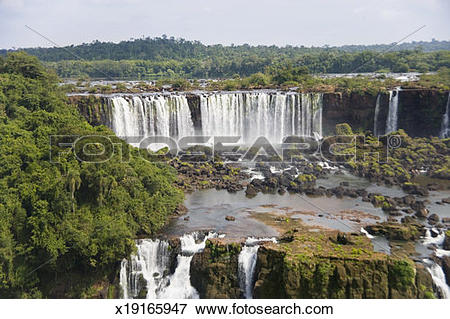 Picture of Brazil, Parana, Foz do Iguacu, Iguacu Falls x19165947.
