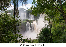 Stock Photography of Iguazu Falls, Foz do Iguacu, Brazil.