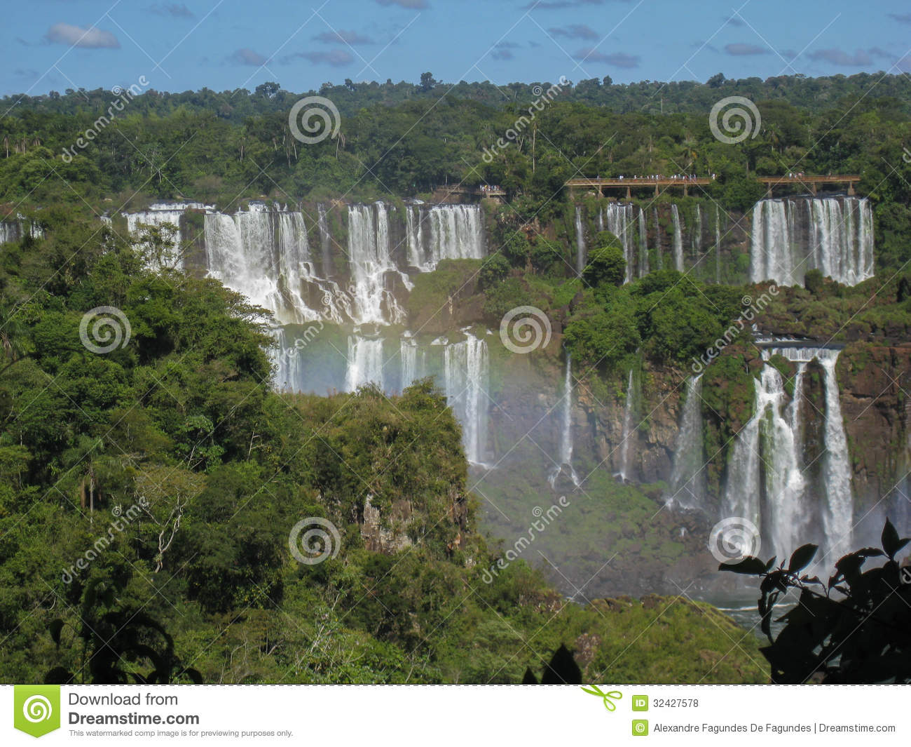 Foz Do Iguacu Falls Argentina Brazil Royalty Free Stock Photos.