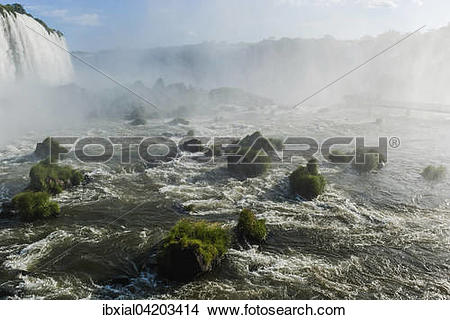 Stock Photo of Parque Nacional do Iguacu or Iguazu National Park.