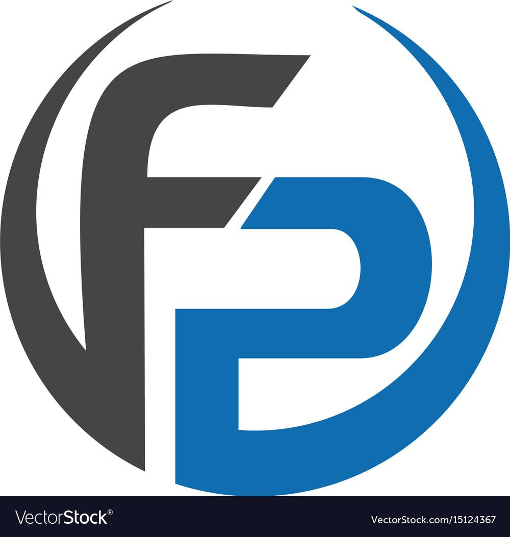 Fp letter business logo design.