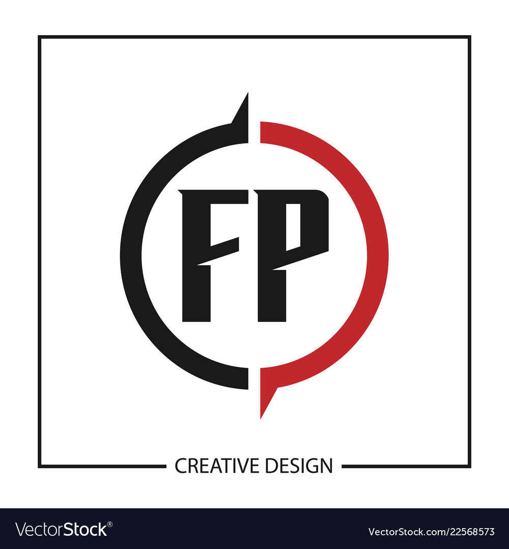 Initial letter logo fp template design.