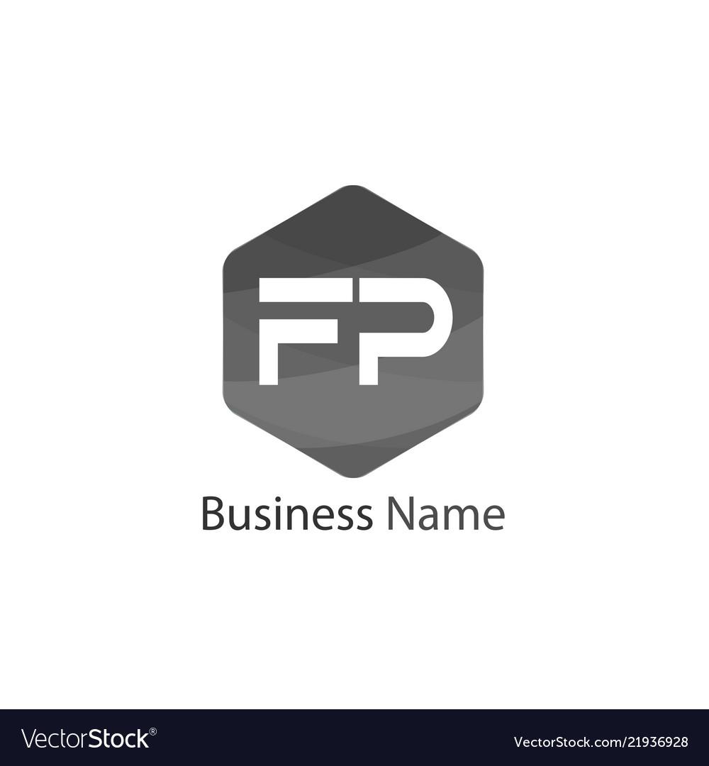 Initial letter fp logo template design.