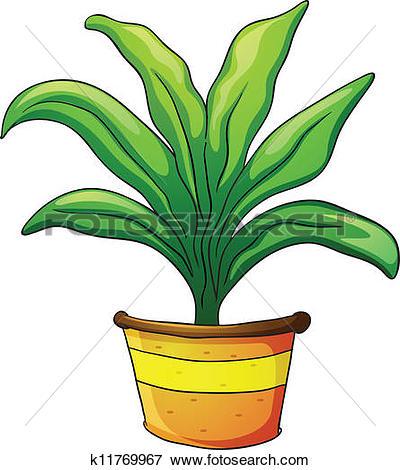 Clip Art of plant pot k11769967.