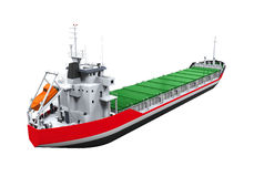 Cargo Tanker White Background Stock Illustrations.