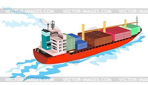 Ship Cargo Boat Retro.