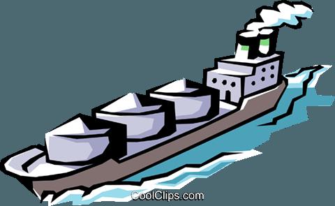 Frachtschiff Vektor Clipart Bild.