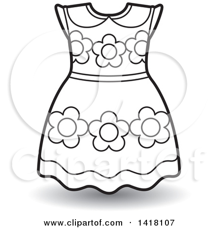 Clipart of a Belted Frock.