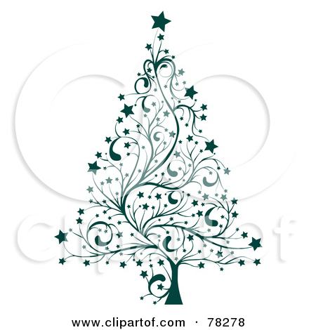 Fractal Art Christmas Clip Art.
