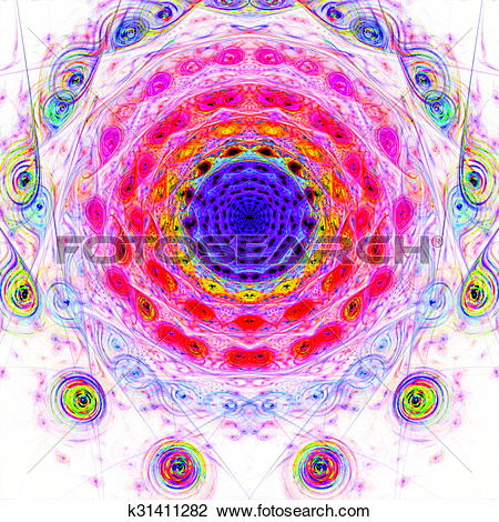 Clip Art of Abstract scene depicting an astronomical nebula.