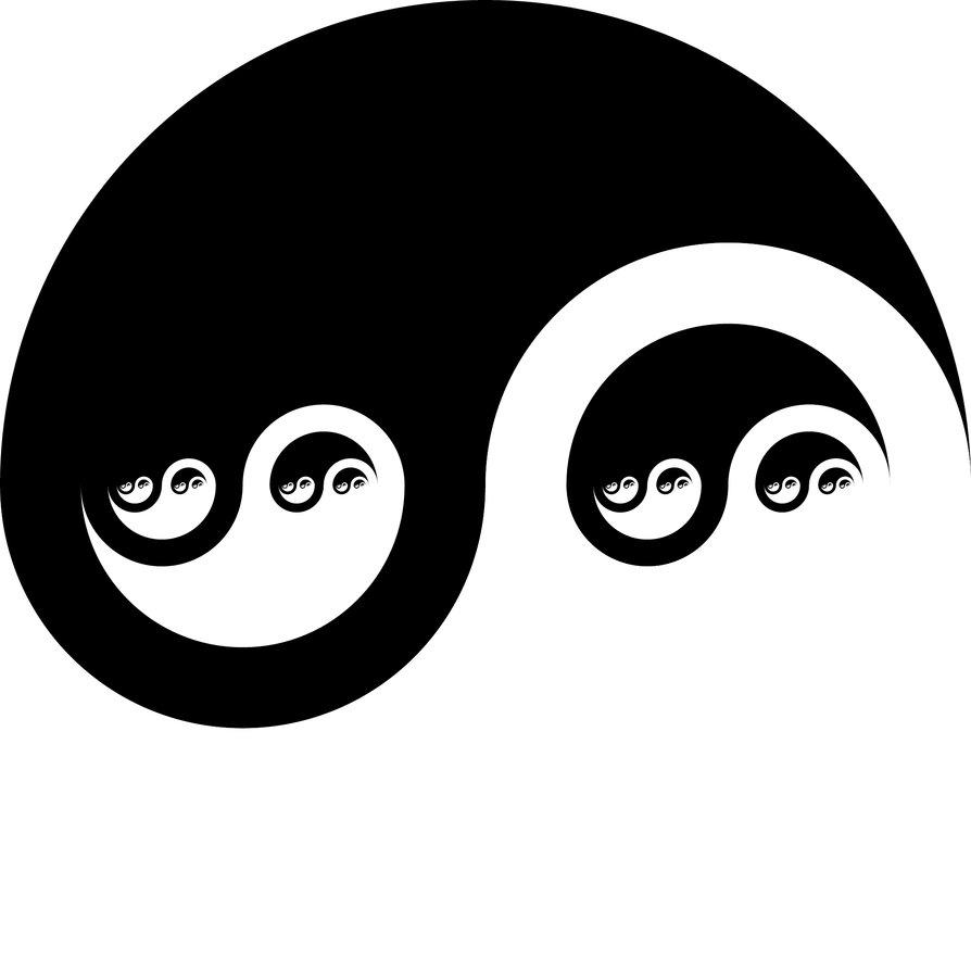 Fractal Yin Yang By Toa.