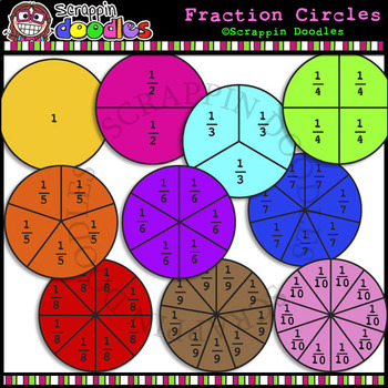 Fraction Circles Clipart Worksheets & Teaching Resources.