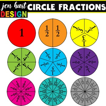 Fractions Clipart Set {Circles}.