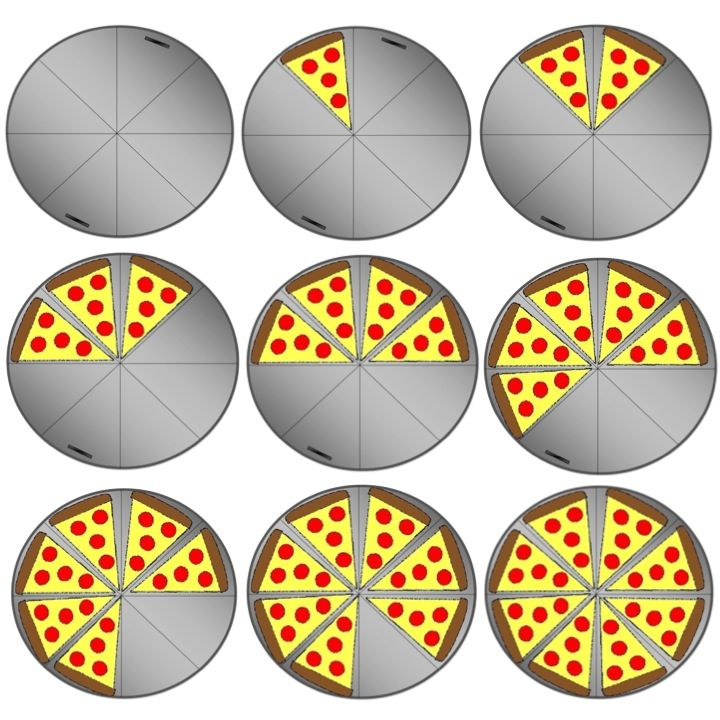 Pizza fraction clipart.