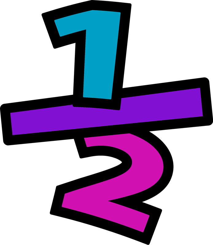 Fraction clipart images.