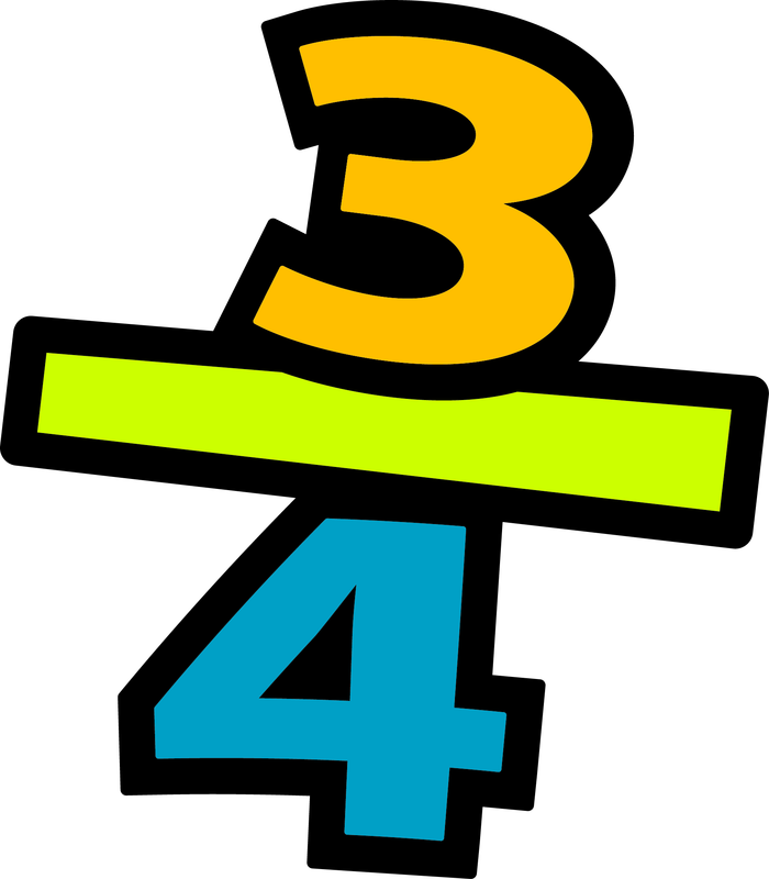 Fraction number clipart.
