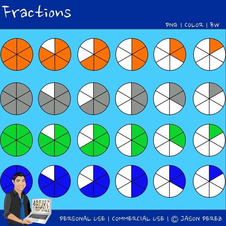 Fractions For Teachers Clipart.