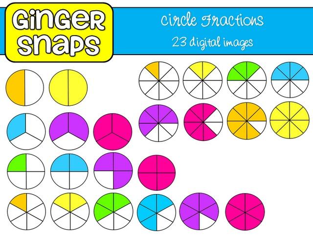 Circle Fraction Clip Art.