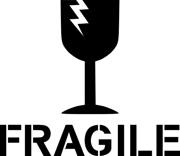 Fragile Sign clip art Free vector in Open office drawing svg.