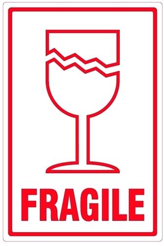 Fragile label clipart.