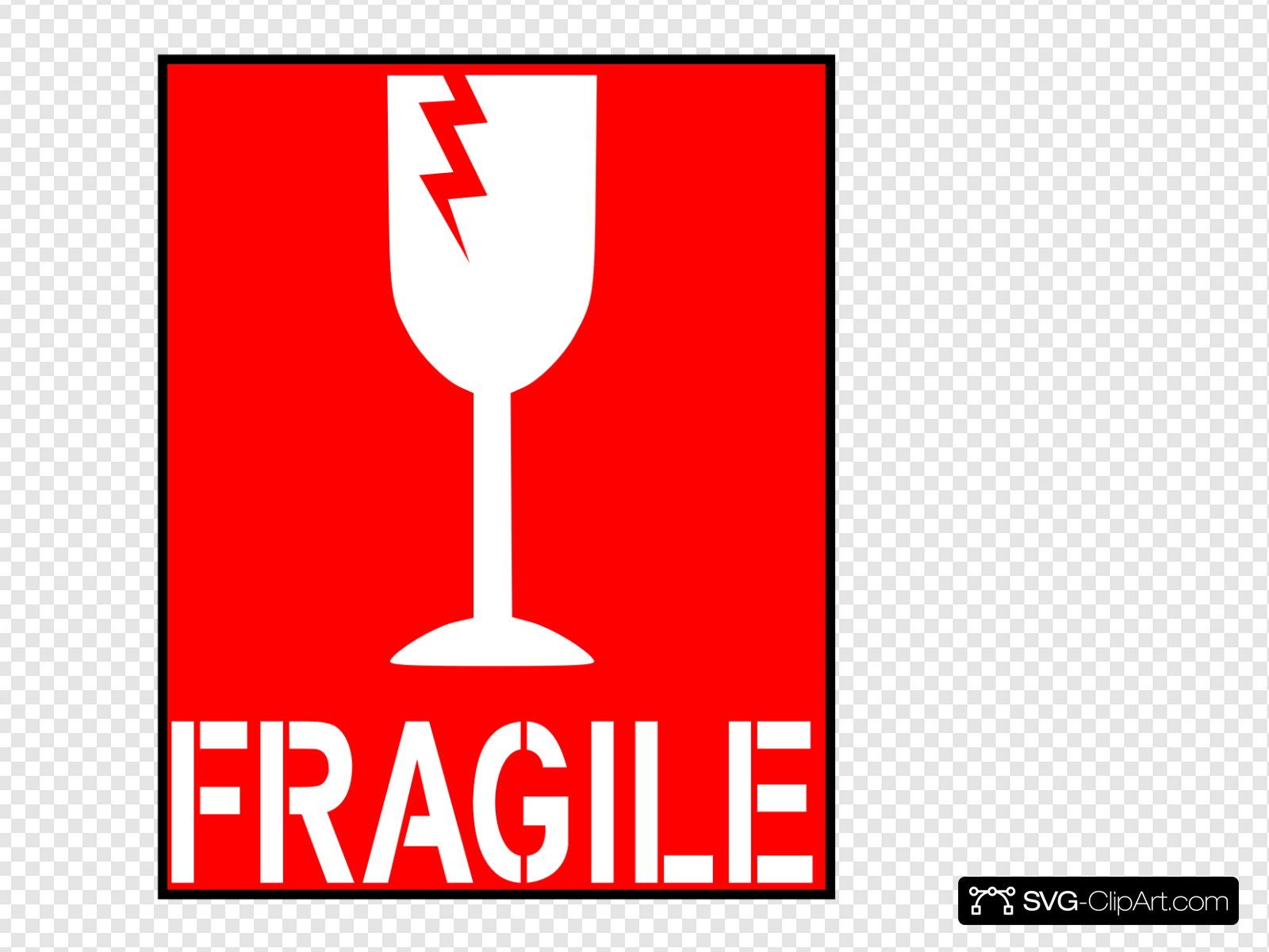 Fragile Red Clip art, Icon and SVG.