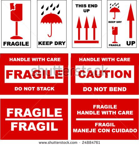 Fragile Label Stock Vectors & Vector Clip Art.