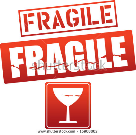 Fragile Sticker Stock Images, Royalty.