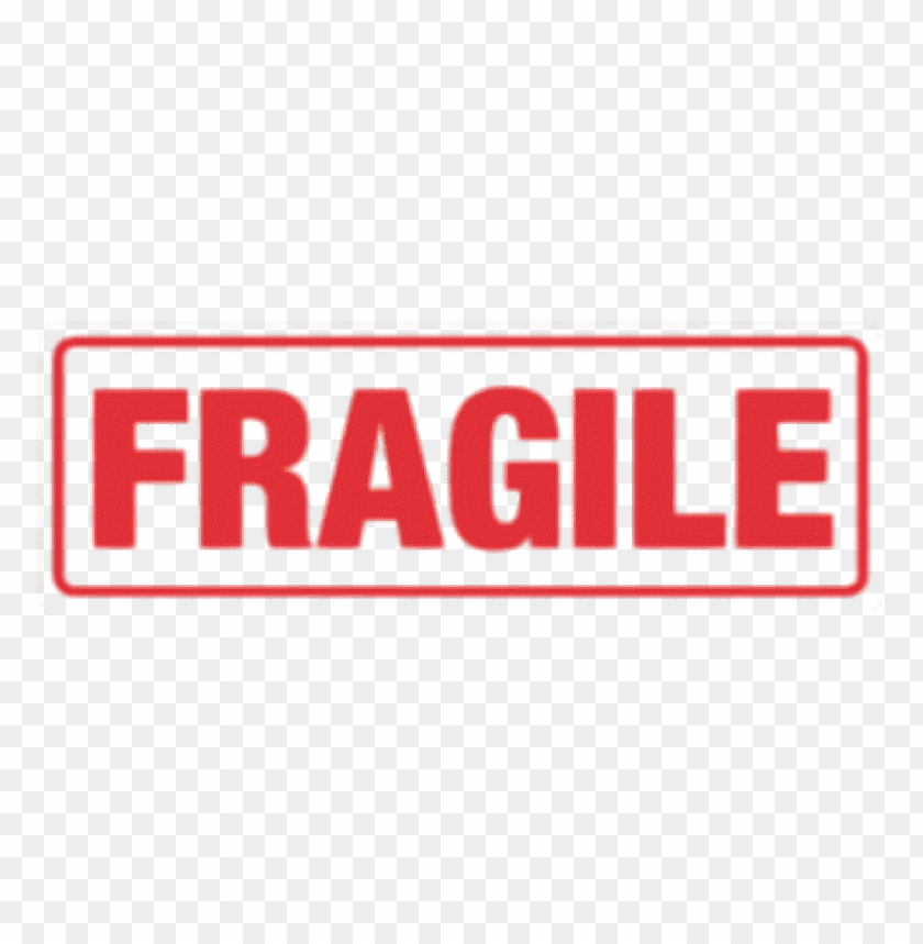 fragile sign PNG image with transparent background.