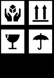 Fragile Symbol Clip Art.