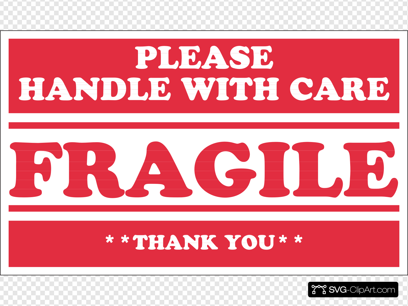Fragile Handle With Care Clip art, Icon and SVG.