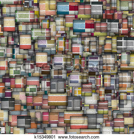 Clipart of mosaic tile fragmented backdrop in multiple color.