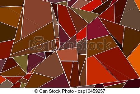 Stock Illustrations of abstract fragmented pattern red orange.