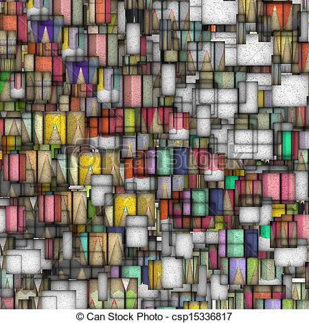 Clipart of mosaic tile colored pencil backdrop fragmented.