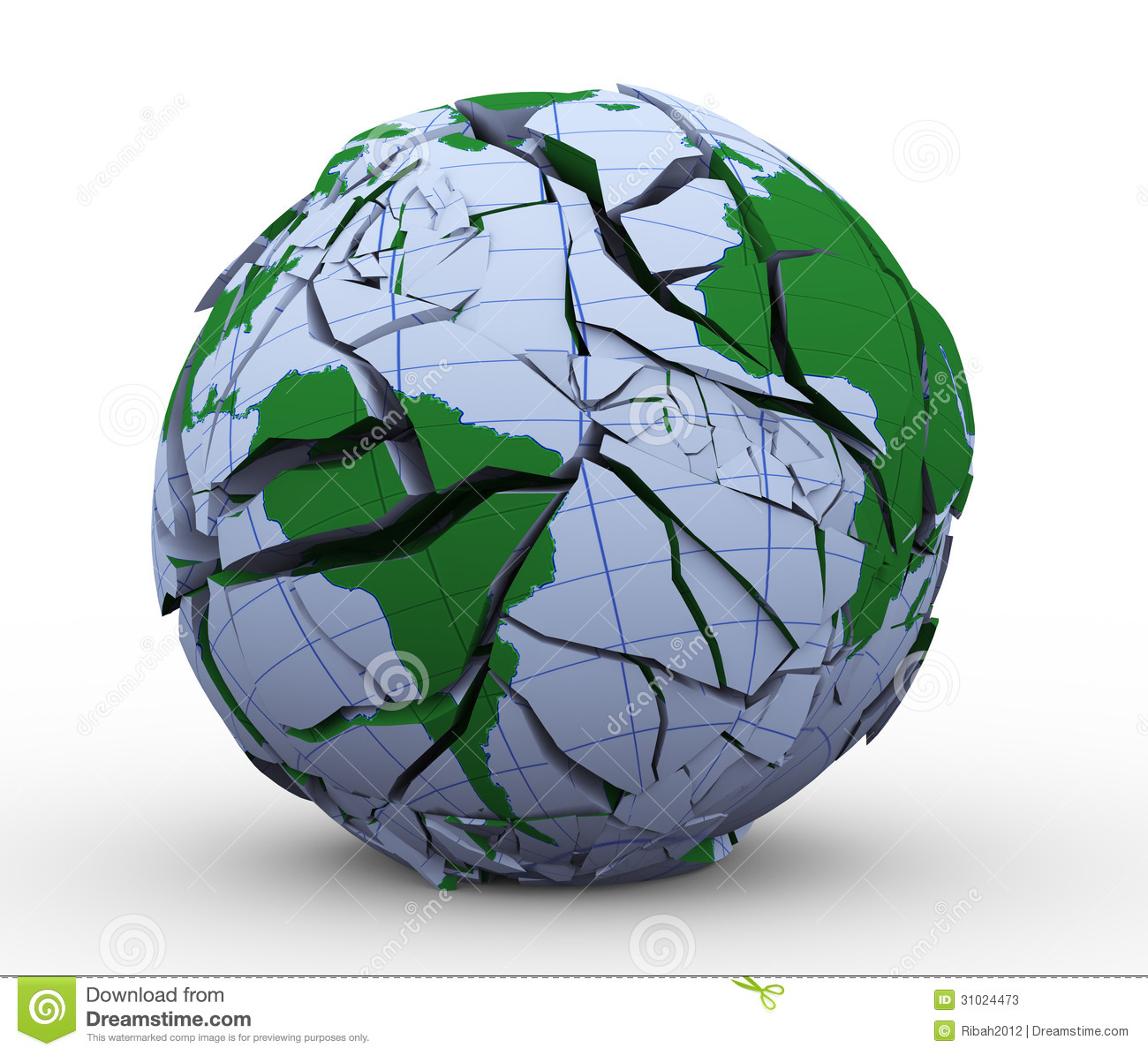 Fragmented Earth Royalty Free Stock Images.
