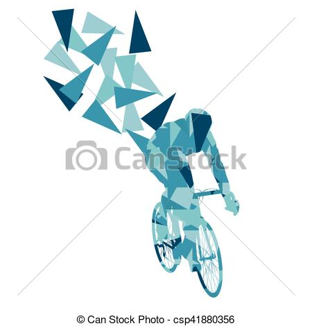Clipart Vector of Cyclist professional racer vector background.