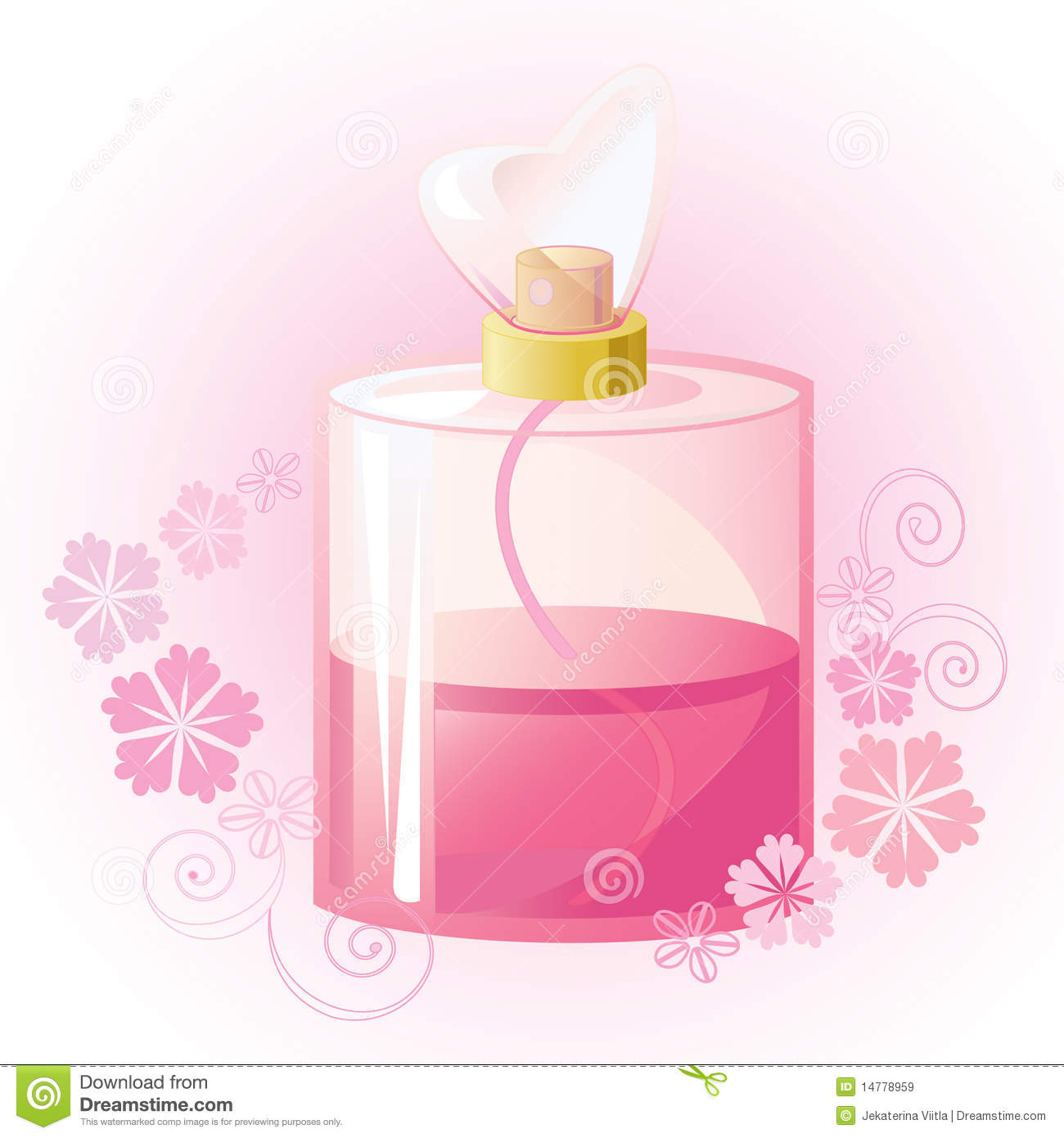 Pink Fragrance Clipart.