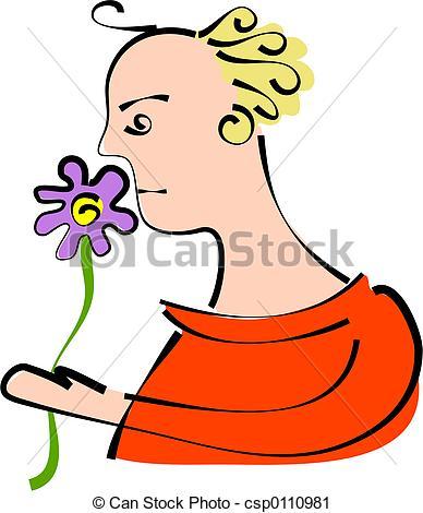 Clipart of flower fragrance.