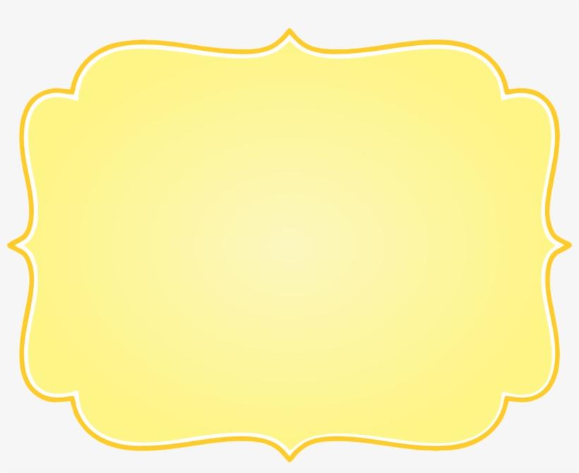Frame Vintage Amarelo Png.