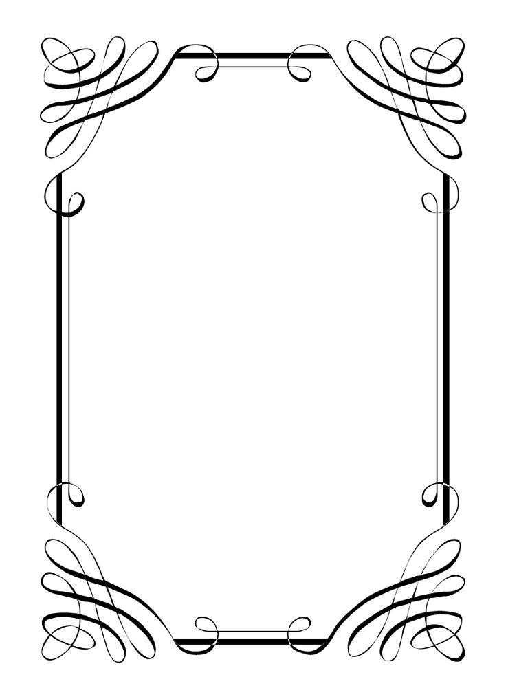 Free vintage clip art images: Calligraphic frames and.