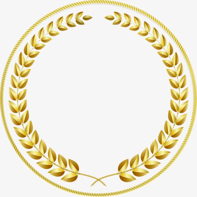 Gold Circular Border, Gold Frame, Circular Fringe, Creative.
