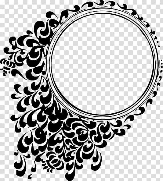 Round frame illustration, Circle , batik transparent.