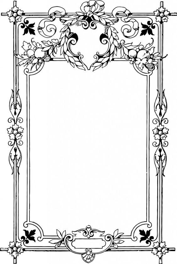 Gorgeous Clip Art Border Frame.
