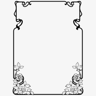 Free Frame Clipart Black And White Cliparts, Silhouettes, Cartoons.