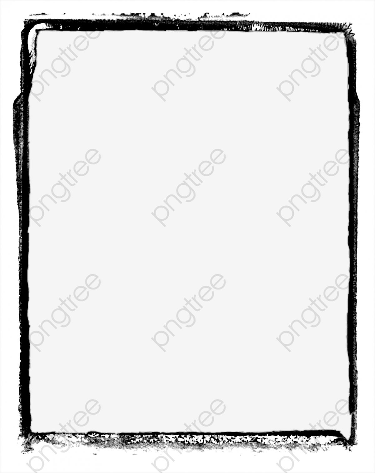 Black Simple Frame Border Texture, Frame Clipart, Black, Simple PNG.