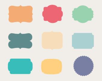 Color frames clipart.