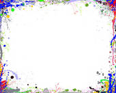 Clipart of Abstract Color Frame k1790181.
