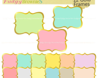ON SALE gold frames clipart,white background frame,frame A.