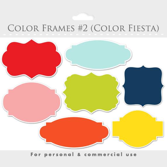 Color frames clipart elegant frames ornate flourish frames.