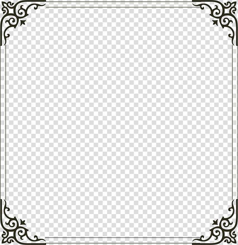 Square black frame, frame Computer file, Simple border.