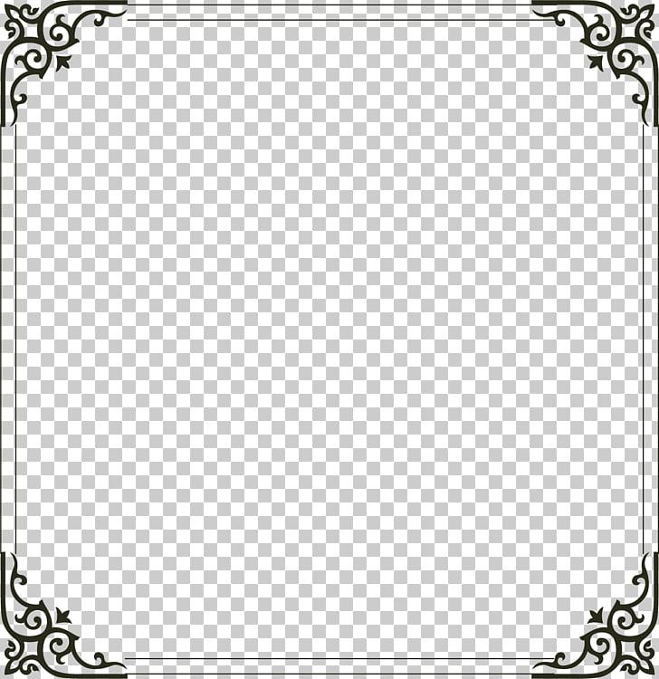 Frame Computer file, Simple border, square black frame PNG.